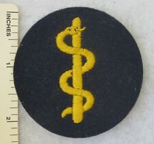 WW2 Vintage GERMAN NAVY KRIEGSMARINE MEDICAL RATE PATCH on BLUE ORIGINAL