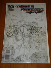 TRANSFORMERS HEART OF DARKNESS #2 VARIANT RI SKETCH COVER IDW