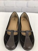 RUFF HEWN Women's Brown Leather Mary Jane Slip On Flats Size 10M