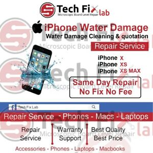 iPhone X / XS / XS MAX Water Damage Cleaning & Fault Quotation Repair Service