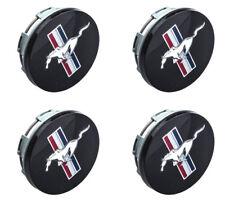 """(4) OEM 1994-2004 Ford Mustang Black Pony & Flag 17"""" Wheel Hub Cover Center Cap"""