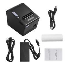 80mm Thermal Receipt Printer f/ Cash Drawer USB LAN Interface ESC/POS Print A4X8