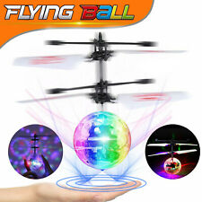 Magic Flash Electric UFO Light Flying Ball Helicopter RC Sensor Drone Kids Toys