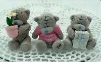 Me To You Tatty Teddy Bear Miniature Lot X 3, Carte Blanche, Blue Nose