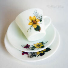 Cup & Saucer White Glass