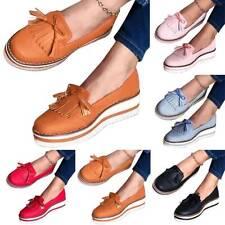 Womens Ladies Fashion Tassels Slip On Flat Pumps Fitness Platform Loafers Shoes