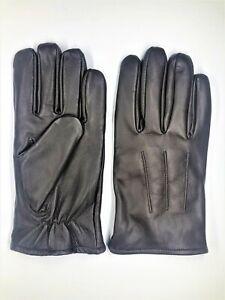 Men's Chestnut GENUINE SHEEPSKIN soft leather winter gloves w/ fleece lining