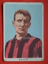 VECCHIA FIGURINA RASA calcio football 1961 MILAN Mario David Cervignano