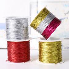 Tying Rope Christmas Strap Ribbon Packaging Thread Tinsel String Metallic Cord