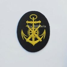 WWII GERMAN KRIEGSMARINE GUNNERY ENGINEER BADGE ON NAVY BLUE FELT