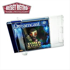 5x Klarsicht Schutzhüllen Sega Dreamcast DC Spiel OVP 0,3 mm Protectors Box