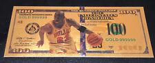 Michael Jordan American $100 Gold Banknote Chicago Bulls Collectible Bill Card