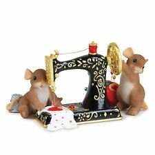 Charming Tails 'We're Sewing Love' Mice with Machine Figurine, 84149