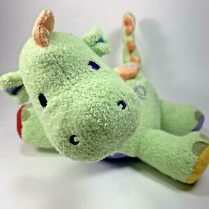 Carters Musical Plush Green Dinosaur Lovey Baby Toy Dino 2003 Works
