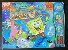 Spongebob Squarepants Bikini Bottom Book of Board Games rare electronic spinner