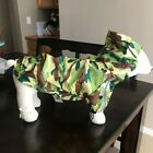 NWT Dogo Army Camo Raincoat for Dogs - Size Large