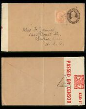 Mayfairstamps India 1940s to Salem OR Uprated Censored Stationery Cover wwf53757