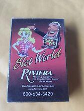 New Riviera Hotel Casino Slot World Jackpots Las Vegas Sealed Deck Playing Cards