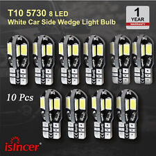 10x Error Free T10 White 8 5730 SMD LED Car Side Wedge Light Lamp Bulbs Canbus