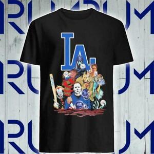 Los Angeles Dodgers Halloween Shirt MLB Baseball Team Champs 2021 Sport Black