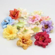 """10-100Pc Silk Artificial Bud 2"""" Rose flower head Wedding Wreath Diy Fake Flowers"""