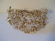 Expandable Necklace with Gold Beads and Sparkles