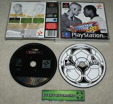 International Superstar Soccer ISS Pro 98 & Metal Gear Solid demo - PS1 game PAL