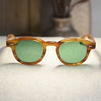 Vintage Johnny Depp sunglasses solid acetate 1960's glasses green tinted lenses
