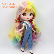 ICY Blyth Style Nude Doll Colorful Hair Anime Style Carved Ball Jointed Puppe