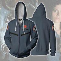 Newest Alien Ripley Hoodie Hooded Sweater Zipper Coat Cosplay Jacket