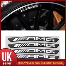 Aleación 4pc Negro AMG logotipo Rueda Llanta Adhesivo Emblema Para Mercedes Benz Conjunto Decorar
