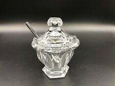 "Baccarat Crystal Missouri Jam Jar Sugar Bowl with Lid & Spoon, 4 1/2"" Tall"