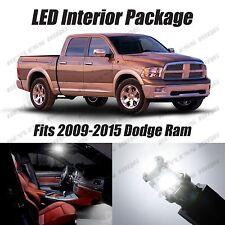 12 pcs LED White Lights Interior Package Kit For Dodge Ram 2009-2015