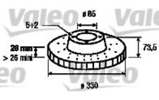 VALEO Disco de freno (x2) Trasero 330mm ventilado VOLKSWAGEN TOUAREG AUDI 197090