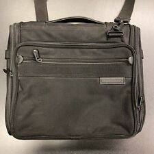 Briggs and Riley Executive Brief Case Black Laptop Sleeve Messenger Bag computer