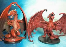 Dungeons & Dragons Miniatures  Large Red Dragon Young Red Dragon !!  s114