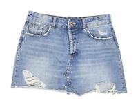 Zara Womens Size M Denim Blue Skirt (Regular)