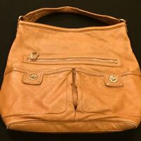 MARC BY MARC JACOBS TOTALLY TURN LOCK FARIDAH HOBO LARGE BROWN LEATHER BAG