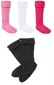 Womens Ladies Winter Warmer Fleece Wellington Boot Welly Liner Long Socks uk 4-7