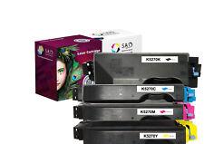SAD Premium 4er Pack kompatibel mit Kyocera TK-5270 TK5270 TK-5270K TK-5270C M Y
