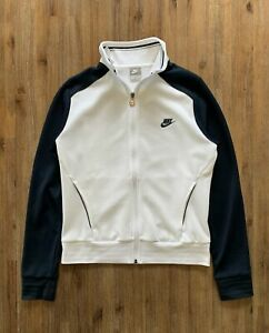 NIKE Size S Vintage White and Navy Jumper Womens FEB66