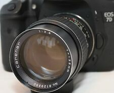 Canon EOS fit Prime 135mmm/2.8 focus confirm lens M42-EOS Carenar FREE UK POST