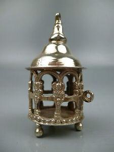 Antique Signed Simon Rosenall Solid Silver 800 Miniature Latern - SL