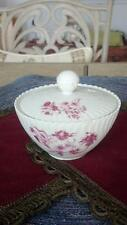 Vintage limoges candy/sugar bowl with lid swirled with scalloped edge