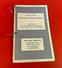Ameri-King Corp IM-950 Installation Operation Manual for Model AK-950