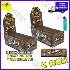 6000 Cartine SMOKING CORTE BROWN naturali 100pz Senza Cloro Non Sbiancate 2 Box