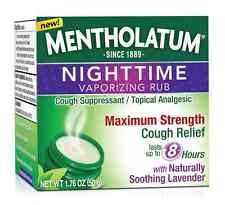 Mentholatum Nighttime Vaporizing Rub Maximum Cough Relief, 1.76 oz (2 pack)