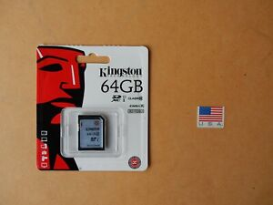 Kingston Digital 64GB SDXC Class 10 45R SD Card SD10VG2/64GB New