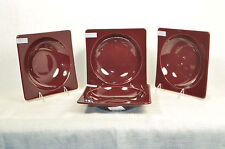 EMILE HENRY Square Soup Bowl  Set/4 Figue Brown Stoneware New