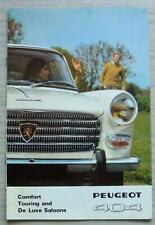 PEUGEOT 404 COMFORT TOURING/DE LUXE SALOONS Car Sales Brochure 1968 #9-67 PP78GB